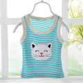 1 pc Baby sleeveless T-shirt 0-24 months Baby boy Female girls Cotton Cartoon Solid Breathable Sleeveless T-shirt aDR0144