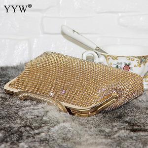 Image 5 - Noite feminina bolsa de embreagem diamante embreagem feminina prata dia embreagem banquete festa casamento bolsa preto/ouro bolsas mujer 2019