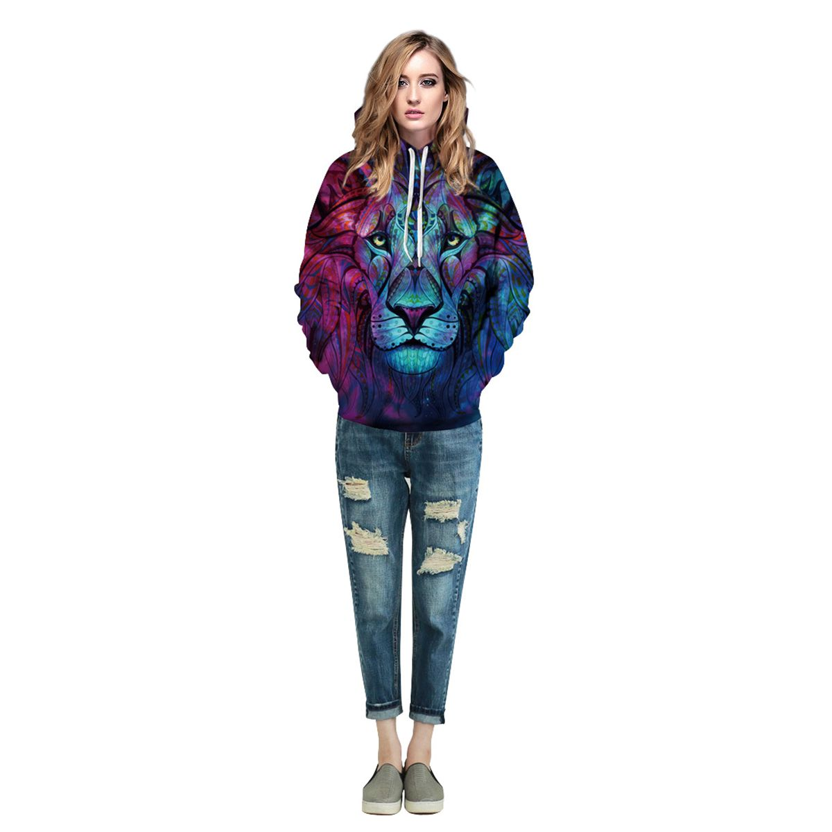 Men/Women New Fashion 3d Print Paisley Flowers Lion Hoodies Sweatshirts Spring Autumn Thin Hooded Pullovers Tops