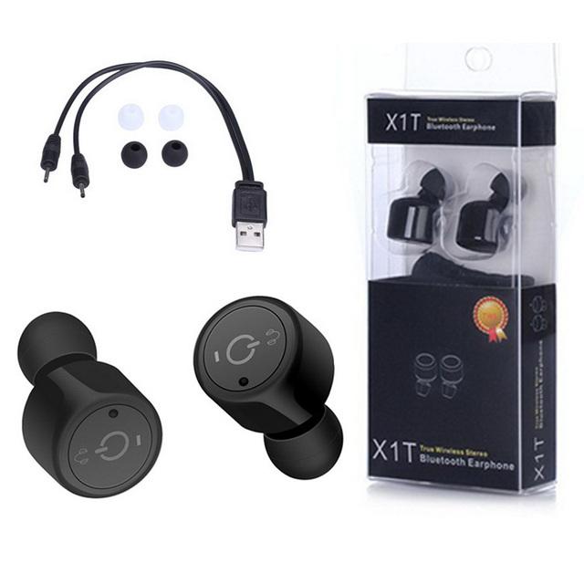 Gêmeos x1t mini invisível verdadeiro fones de ouvido sem fio bluetooth 4.2 csr fones de ouvido handsfree para iphone 7 plus samsung s6 xiaomi