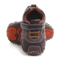 Fashion baby PU Leather toddler first walker soft soled baby Boys shoes Newborn boys Sneakers for 0-18M New Baby's First Walkers