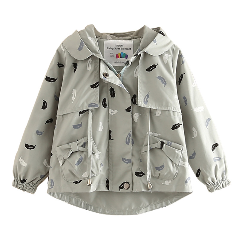 Baby girl Hooded Jacket spring autumn new girls wear long sleeved coat children sports coat baby outwear ...