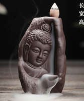 TOP BEST business gift # HOME OFFICE CHAN DAO Buddha sand fired porcelain pottery Aroma Burner Incense Burner + free Incense