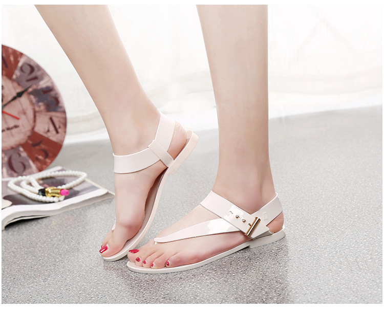Free Shipping Women Sandals 2016 Summer Bohemia Flat Women Shoes New Fashion Beach Sandals Solid Casual Shoes ST1009 (11)