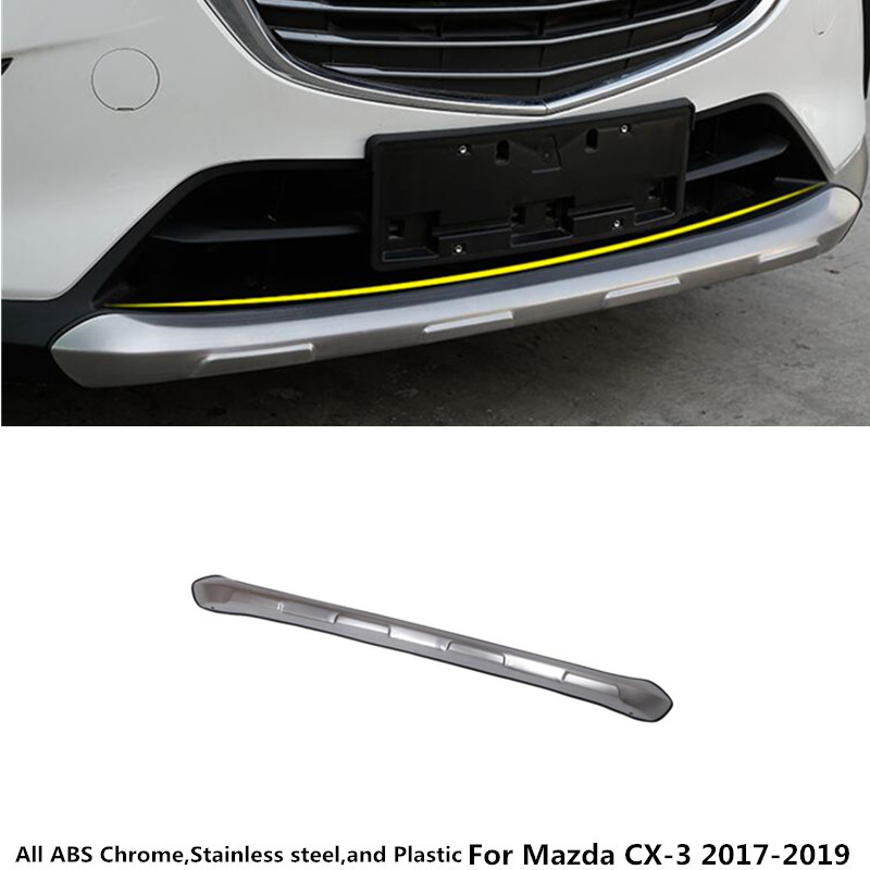 For Mazda CX-3 CX3 2017 2018 2019 Car body cover bumper Stainless steel trim Front bar racing Grid Grill Grille frame edge 1pcs stainless steel car racing grills for volkswagen touareg 2011 2015 front grill grille cover trim car styling