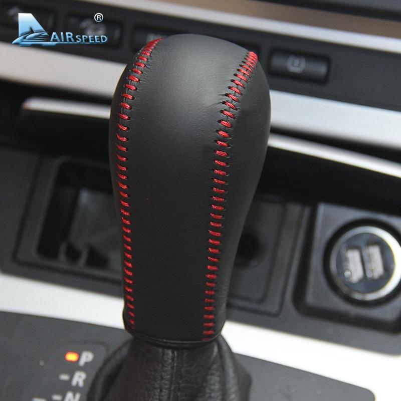 Velocidad cuero palanca de cambios del coche cubierta Handbrake manga Grips para BMW E60 E90 X3 X5 Z4 6 serie car Styling