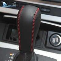 Velocità Del Cambio In Pelle Auto Copertura Della Leva del Freno A Mano Grip Sleeve per BMW E60 E90 X3 X5 Z4 6 Accessori di Serie car Styling
