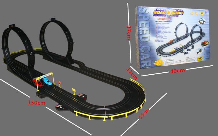 455CM high speed road Track s.ot racing car toy DIY assembled electric rc rail car racing game toys for children