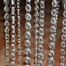 Crystal Clear Acrylic Octagonal bead Garland Chandelier Hanging For Party wedding boda