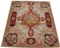 Tapete feito à mão do vintage tapetes para sala de estar tapete quadrado aubusson lã tricô