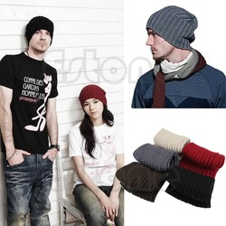 vogue unisex men beanie skull hip hop warm winter wool knit ski slouchy cap hat.jpg 250x250