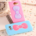 KISSCASE Candy Color Bow Stand Case For Samsung Galaxy S6 G9200/S6 Edge Cases Soft Silicon Phone Accessories Cover For Galaxy S6