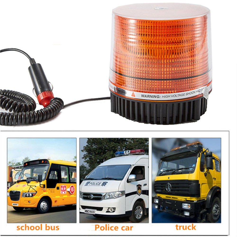 1PCS led emergency Warning Light led rotating beacon flasher fire truck police 12V 24V yellow Emergency work light signal lamps