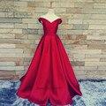 Rojo de la vendimia Vestidos de Baile Barato Más El Tamaño de Raso Vestido Largo de Graduación Vestidos de Gala Envío Rápido Vestidos de Noche Formales 2017
