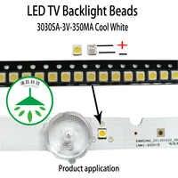 100 pz/lotto di Riparazione led lcd tv retroilluminazione lampada di protezione perline 3030sa 3 v 1 w fredda luce bianca adatto per samsung schermo
