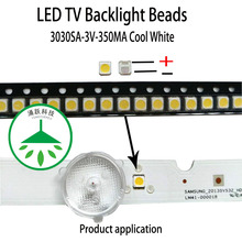 100pcs/lot Repair led lcd tv backlight cap lamp beads 3030sa 3v 1w cool white light suitable for samsung screen 100pcs lot high quality laptop lcd led screen backlight paper 15 6inch