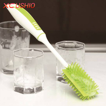 Long Handle Glass Bottle Cleaning Brush Soft Nano TPR Cup Brush Detachable Household Cleaning Tools Vacuum Cup Brush