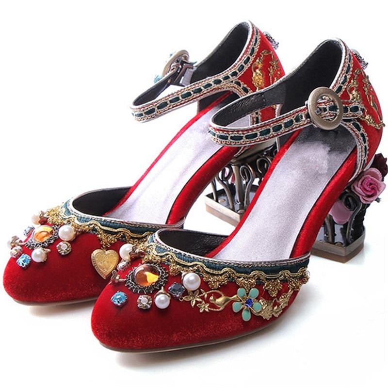 43 34 Morazora Arrivée Chaussures Taille Haute Perles rouge Mode Pompes Talons Ciel Nouvelle De pu Unique Strass Grande Femmes Simples Partie Noir arwZ5Faqx