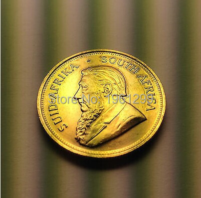 1OZ .999 Fine Gold Plated SA Krugerrand Gold Clad Coins 1972 No Copy,30pcs.lot Free Shipping