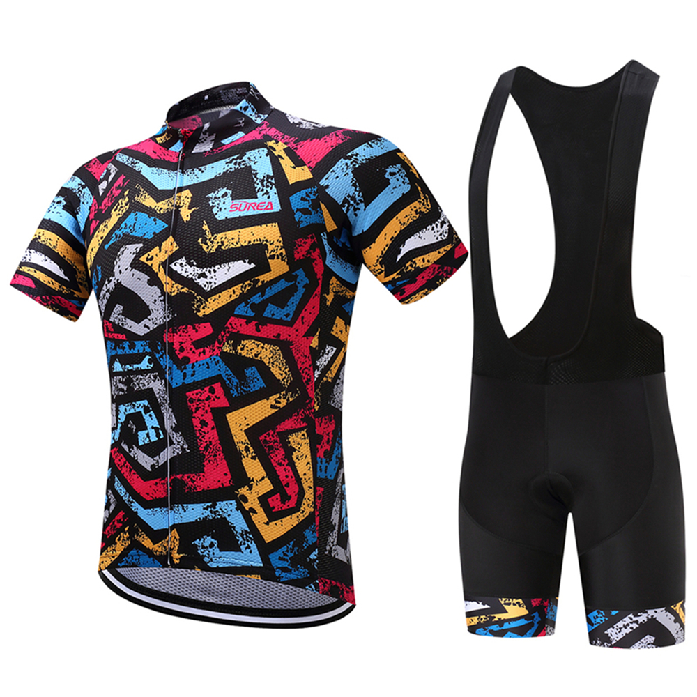 FUALRNY Kamiko Pro 100% Polyester Bicycle Clothing Cycling Jersey Set 2018 MTB Bike Jerseys Set Ciclismo Ropa Maillot Hombre cycling clothing rushed mtb mavic 2017 bike jerseys men for graffiti cycling polyester breathable bicycle new multicolor s 6xl