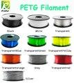 Caliente petg filamento 1,75mm 1 kg de buena calidad petg de filamento plástico PETG 3d impresión filamento de alta fuerza 3d impresora filamento