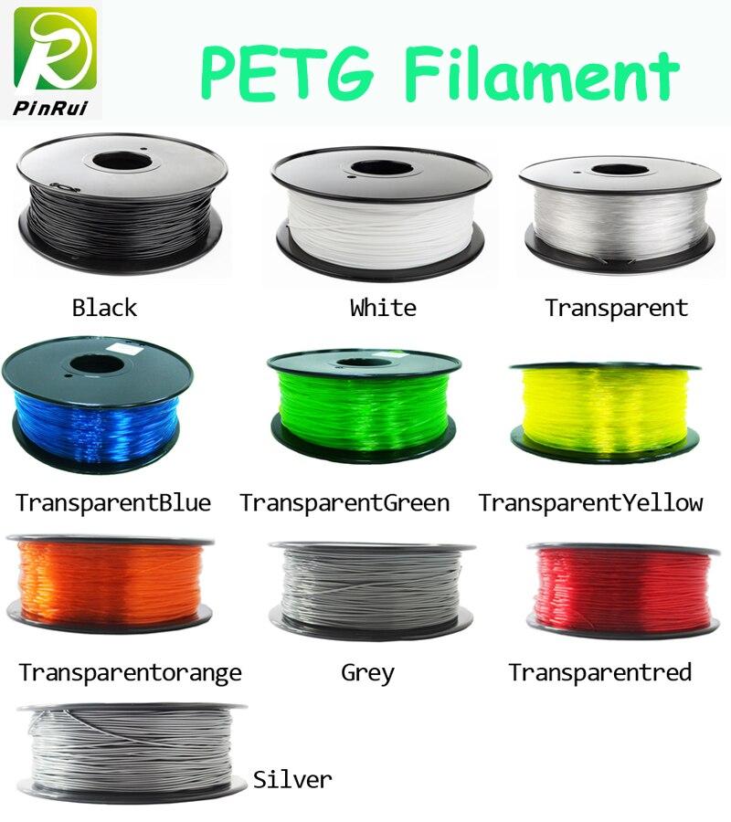 Heißer petg filament 1,75mm 1 kg gute qualität petg kunststoff filament PETG 3d-druck filament hoher festigkeit 3d drucker filament