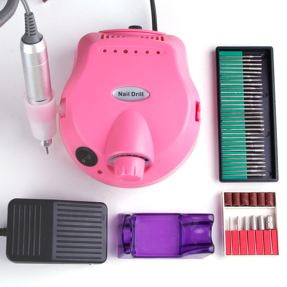 Electric Nail Drill Manicure Machine Set Pedicure Apparatus Kit Nail File Milling Cutter Drill Bits Polisher Remover EU PlugElectric Nail Drill Manicure Machine Set Pedicure Apparatus Kit Nail File Milling Cutter Drill Bits Polisher Remover EU Plug