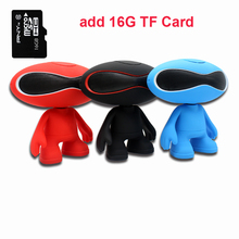 Mini portable speaker wireless Bluetooth Robot Shape MP3 speaker FM Audio Radio, portable audio player support USB 16TF Card