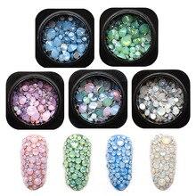 1 бутылка микс опал Кристаллы Стразы для ногтей SS4~ SS20 3D очарование стекло Flatback не горячей фиксации дизайн ногтей аксессуары MJZ2145