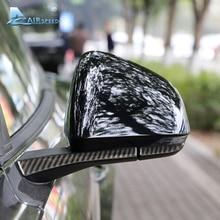 Airspeed для Ford Mustang 2015-2017 LHD карбоновое волокно заднего вида зеркальная крышка Накладка наклейки украшения автомобиля аксессуары автомобиля-Стайлинг