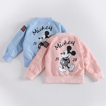 New Baby Clothes Cartoon Mickey Pattern Girls Boys Jackets Coats Toddler Kids Jacket Outwear Baseball Windproof Children Clothes
