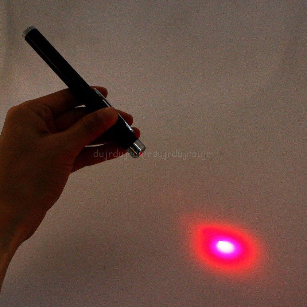 Bolígrafo con puntero de luz roja de 5mW y 650nm Presentación de haz Visible de línea continua 2 pilas AAA (no incluidas) N20 dropship