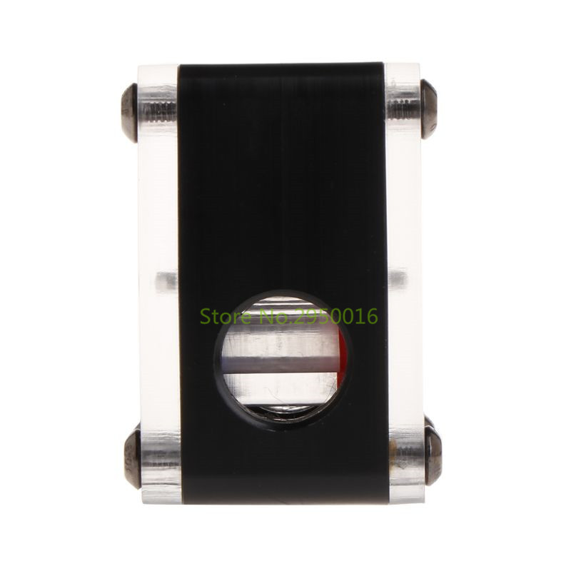 3Way Water Cooling Flow Meter Indicator For PC Water Cooling System Thread Black