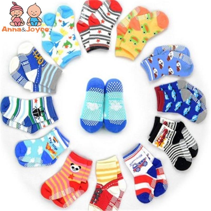 12pairs/lot  Baby Boys Girls Sock Child Socks  Non-slip Socks Kids Socks Gifts  Size 12--15cm for 1-3 Years