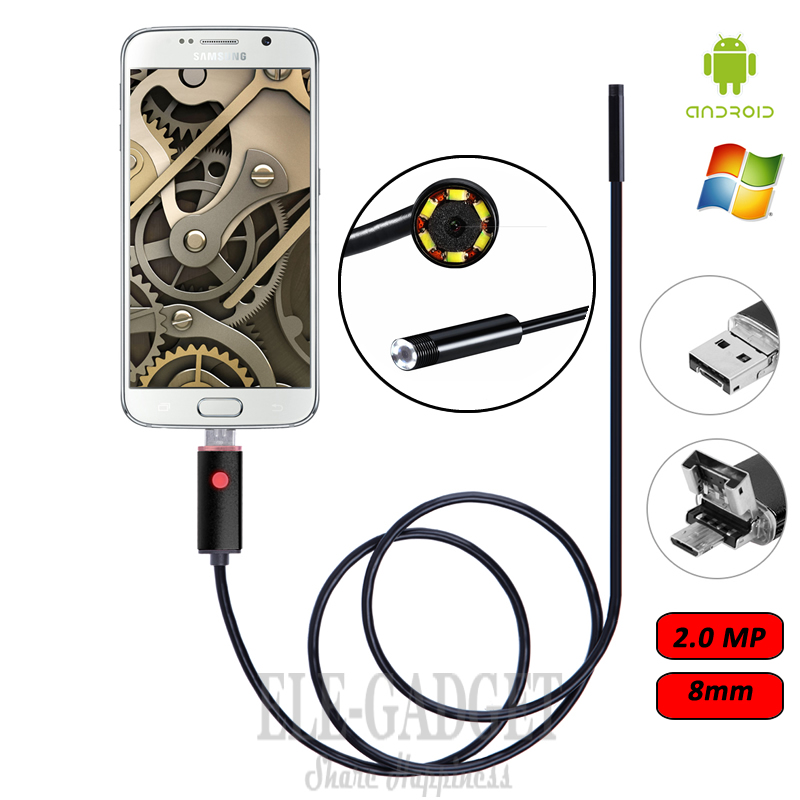 8mm 2.0MP 2-5-10M Cable 2-In-1 Waterproof Android Endoscope Camera Borescope Inspection Camera For Android Phone Xiaomi Samsung8mm 2.0MP 2-5-10M Cable 2-In-1 Waterproof Android Endoscope Camera Borescope Inspection Camera For Android Phone Xiaomi Samsung