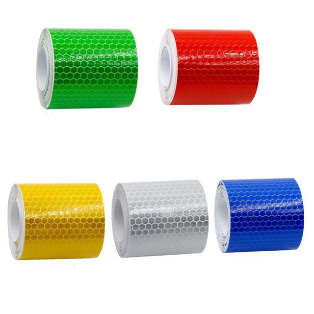 5cmx3m Reflective Safety Mark Tape Sticker Self Adhesive Warning Reflective Film In Dark Effective Prevention Accident 5 Colors