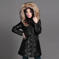 Free shipping,fashion Genuine leather women slim fur jackets.winter warm duck down Asian size female sheepskin jacket Brand