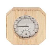 Термометр и гигрометр для сауны 2 в 1 деревянный гигротермограф гигрометр для сауны комнатный инструмент Аксессуары для влажности#1/7