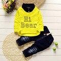 Fashion Spring Children Boy Clothing Sets Kids T-shirt+Pant 2pcs/sets Tracksuit Children Boy Gentleman Suit Baby Boy Suit Set