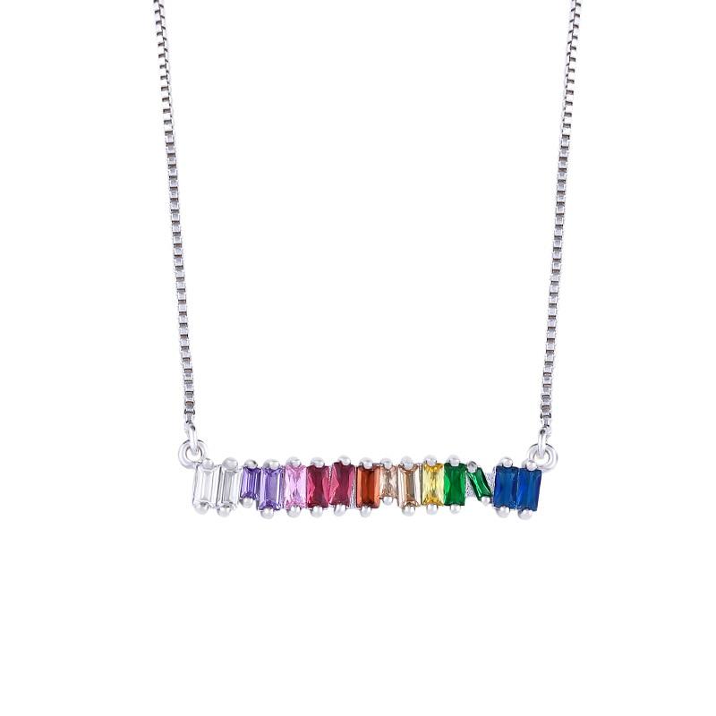 Модное ожерелье с подвеской для глаз для женщин, ожерелье с кристаллами, сексуальные персонализированные чокеры, короткая цепочка на ключицы, ювелирные изделия - Окраска металла: silver
