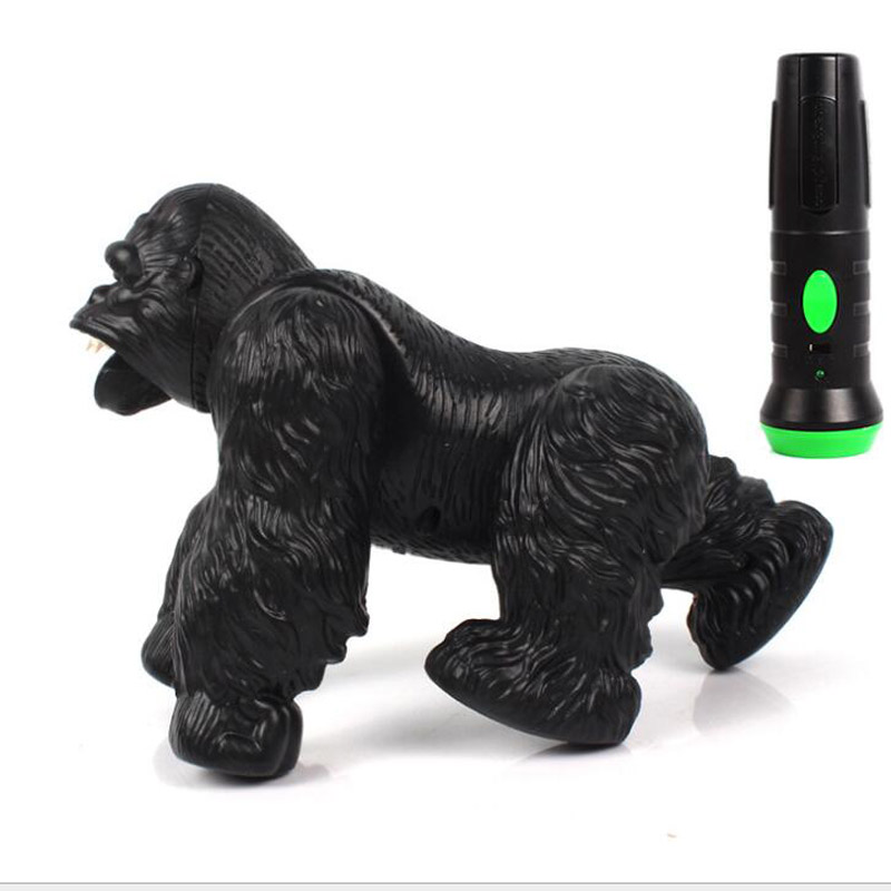 Lighting Infrared RC Gorilla Simulative Remote Control Animal Electric Toy with Sound Funny Terrifying Childrens Day Kids Gift