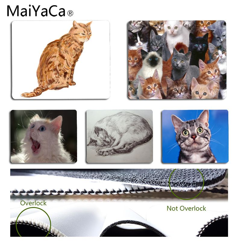 MaiYaCa Cool New Cat Office Mice Gamer Soft Mouse Pad Size for 18x22cm 25x29cm Rubber Rectangle Mousemats