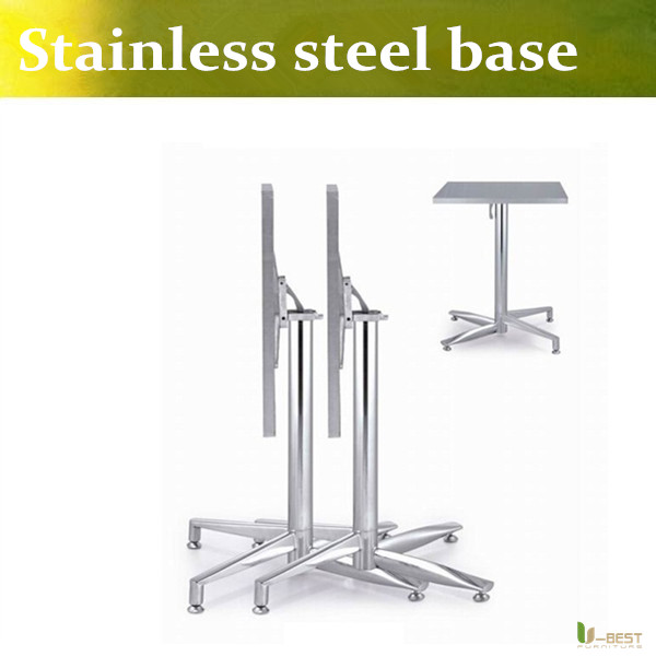 ubest the elegant and classy metal table base coffee shop stainless steel legs folding table base