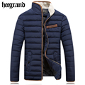 HEE GRAND HOT Men's Thicken Coats Winter Jackets Man Windbreaker Jacket Male Slim Warm Casual Cotton-Padded Men Coat MWM1609