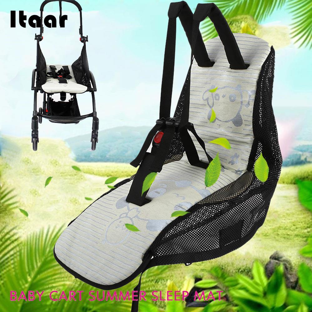 Infant Stroller Mat Breathable Newborn Stroller Mat Summer Car Seat Leica Cloth Pushchair Gifts Baby Stroller Mat