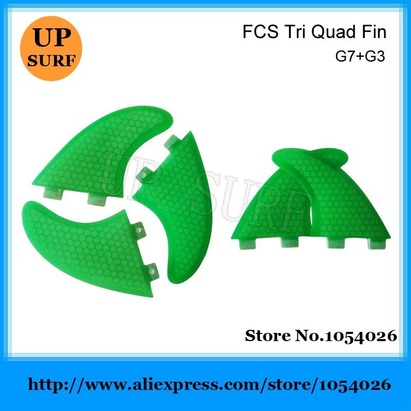 ФОТО G7+G3 Honeycomb FCS Surfboard Fin New Tri-Quad Quilhas Surf Fins