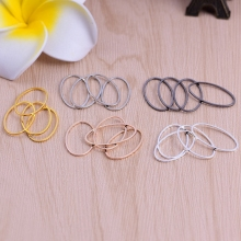 1pc 10 * 6mm plated oval brass ring seamless smooth lap handmade diy accessories jewelry materials wholesale