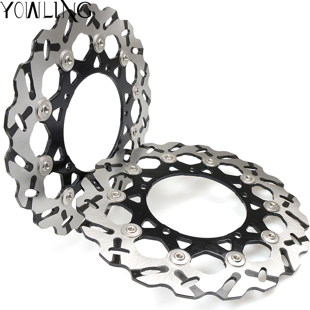 Motorcycle Aluminum inner ring Stainless steel outer ring Front Floating Brake Disc Rotor for YAMAHA YZF R1 YZF-R1 YZFR1 2007-13 outer diameter 245mm stainless steel rear brake disc rotor for yamaha yzf600 xt660 xtz660 tdm850 trx850 tdm900 yzf1000 yzf r1