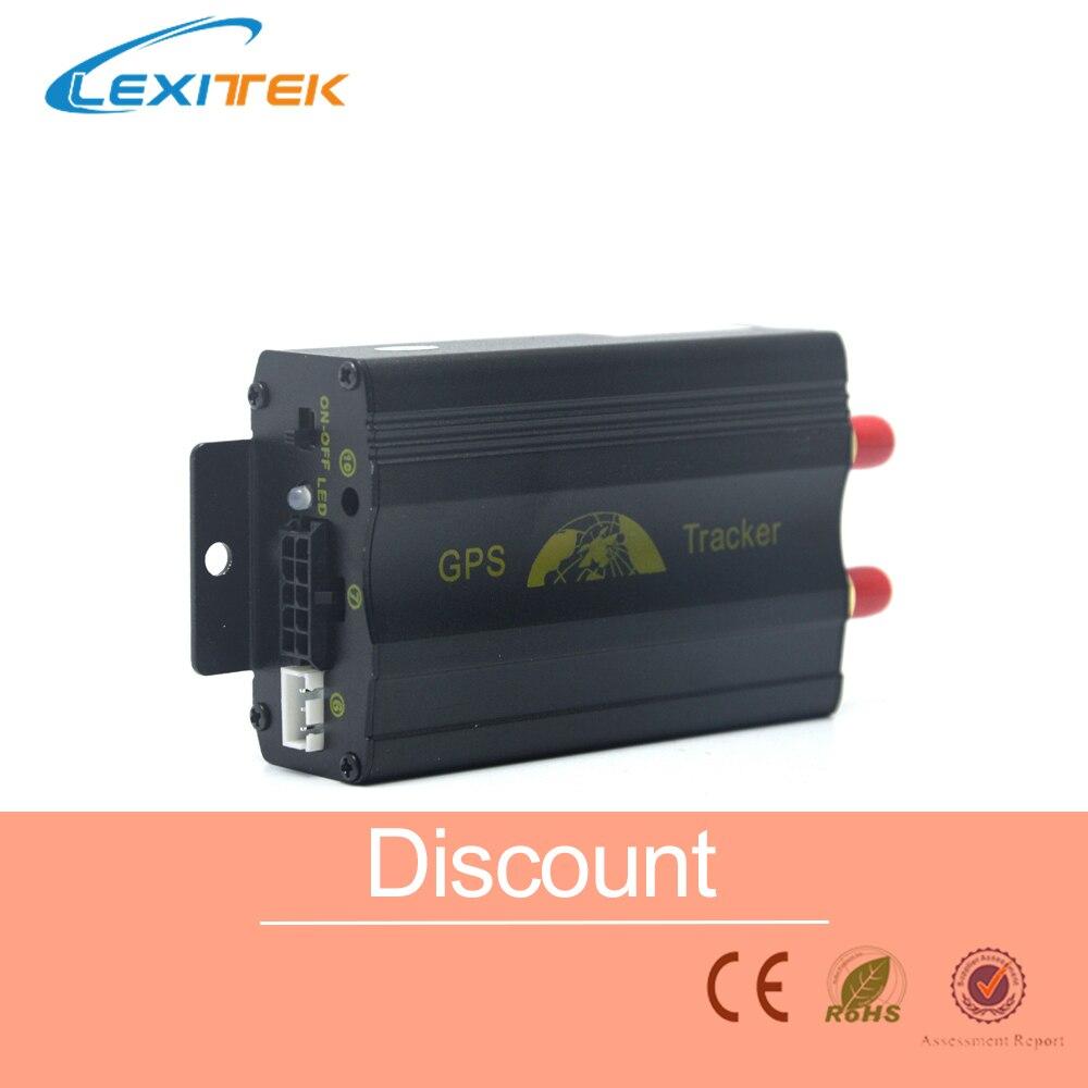 GPS GPRS SMS Coban Original traqueur en temps réel TK103A quadri-bande SD fente pour carte antivol mouvement alarme par SMS