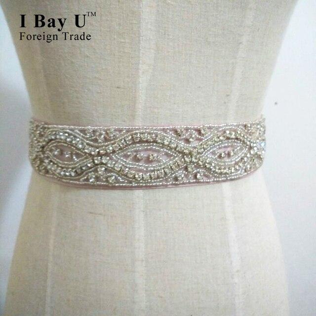 I Bay U White Beaded Sash Belt For Wedding Dress Sash Belt Accessori Cinture Da Sposa Wedding Belts And Sashes Wedding Sash